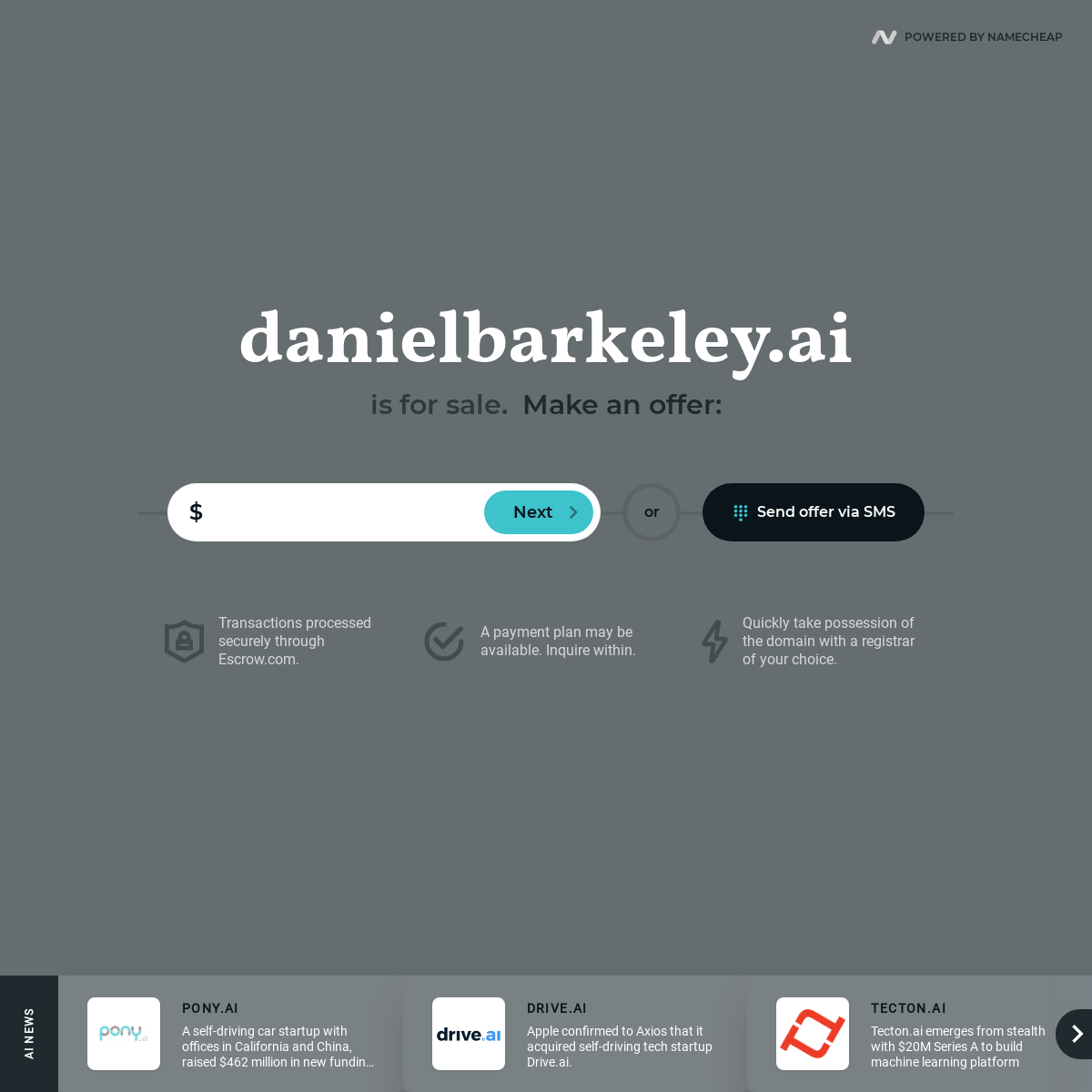 danielbarkeley.ai is for sale