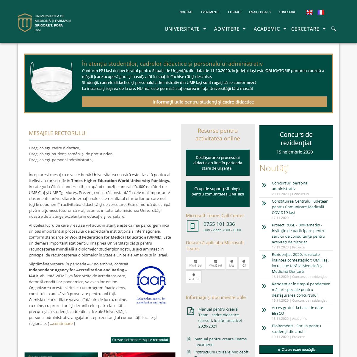 Universitatea de Medicină și Farmacie -Grigore T. Popa- Iași