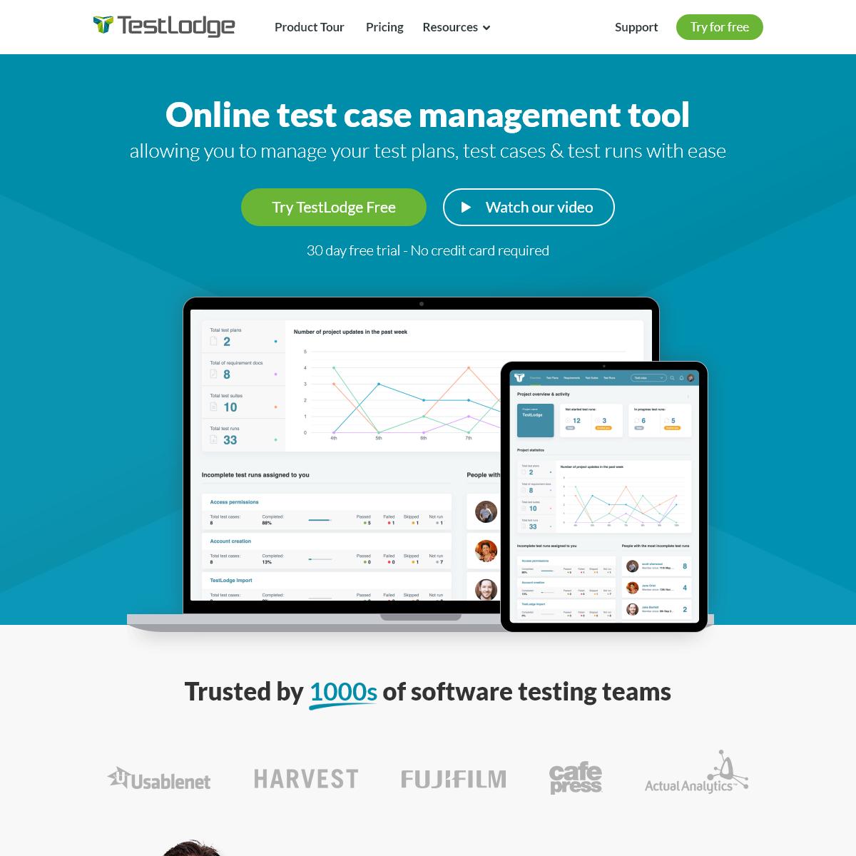Online Test Case Management Tool - TestLodge