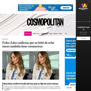 Érika Zaba confirma que su bebé de ocho meses también tiene coronavirus - Revista Cosmopolitan
