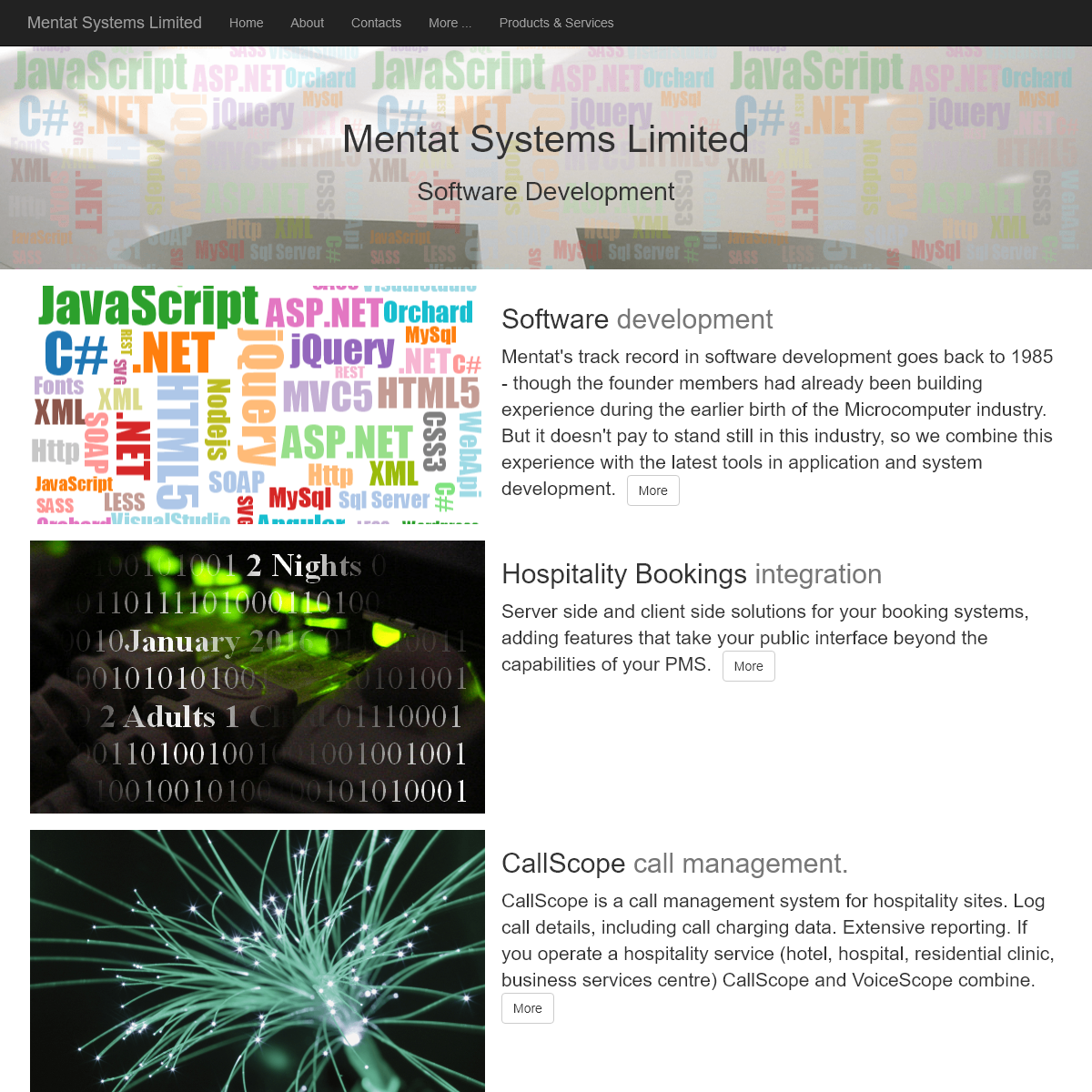 Software Development - Mentat Systems Limited