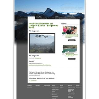 Bürgerklub Tirol - Startseite