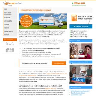 Goedkoop Verhuizen - Verhuisbedrijf Budget Verhuisservice!