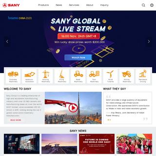 Sany Group - Industrial & Construction Equipment - Excavators & Cranes & Concrete Machinery