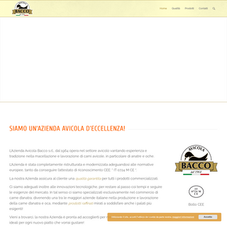 Avicola Bacco – Un nuovo sito targato WordPress