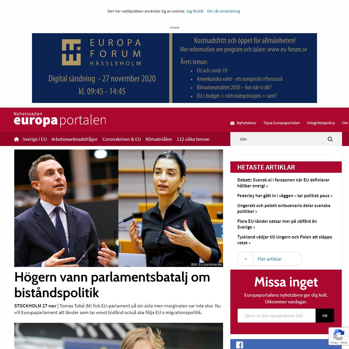 Nyhetssajten Europaportalen -