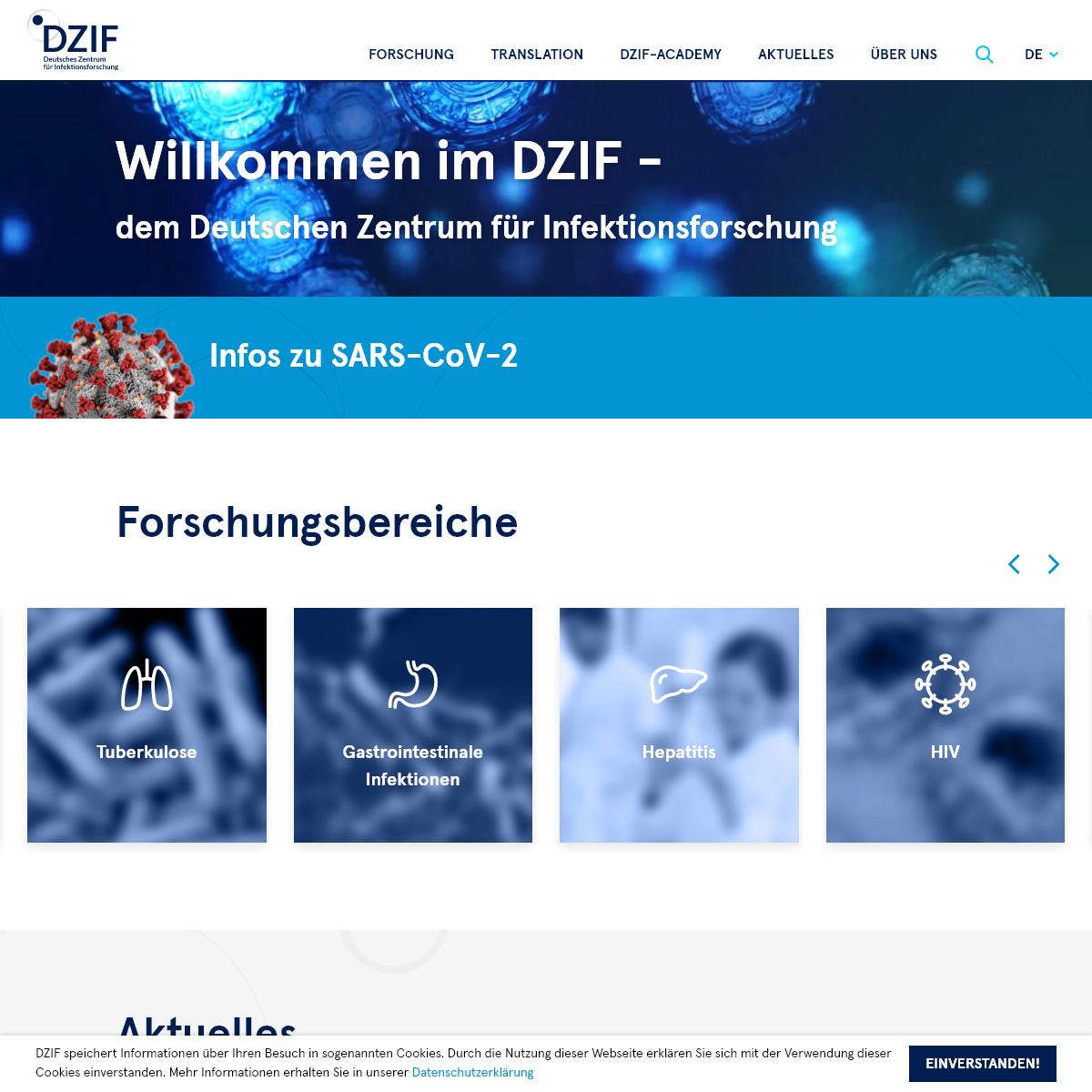 Willkommen im DZIF - Deutsches Zentrum für Infektionsforschung