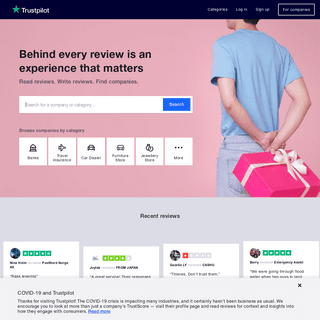 Trustpilot Reviews- Experience the power of customer reviews