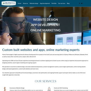 Mantis Technologies - Web Designers, web site packages, ecommerce, real estate website design
