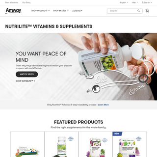 Nutrilite From Amway - Amway Nutrition Products and Supplements - Amway United States