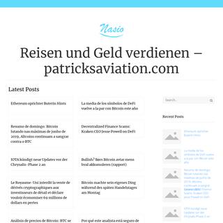 Reisen und Geld verdienen – patricksaviation.com