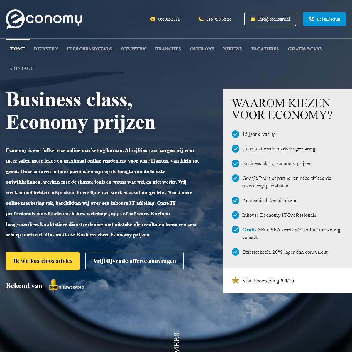 Economy Online Marketing & IT Specialisten - Business Class, Economy Prijzen