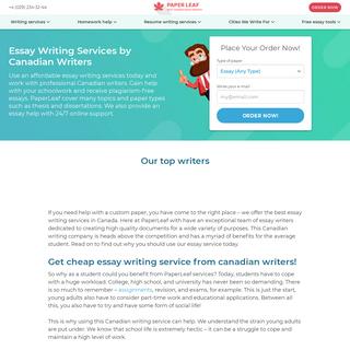Cheap Essay Writing Service in Canada - Write My Essay - PaperLeaf.ca