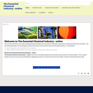 The Essential Chemical Industry (online)