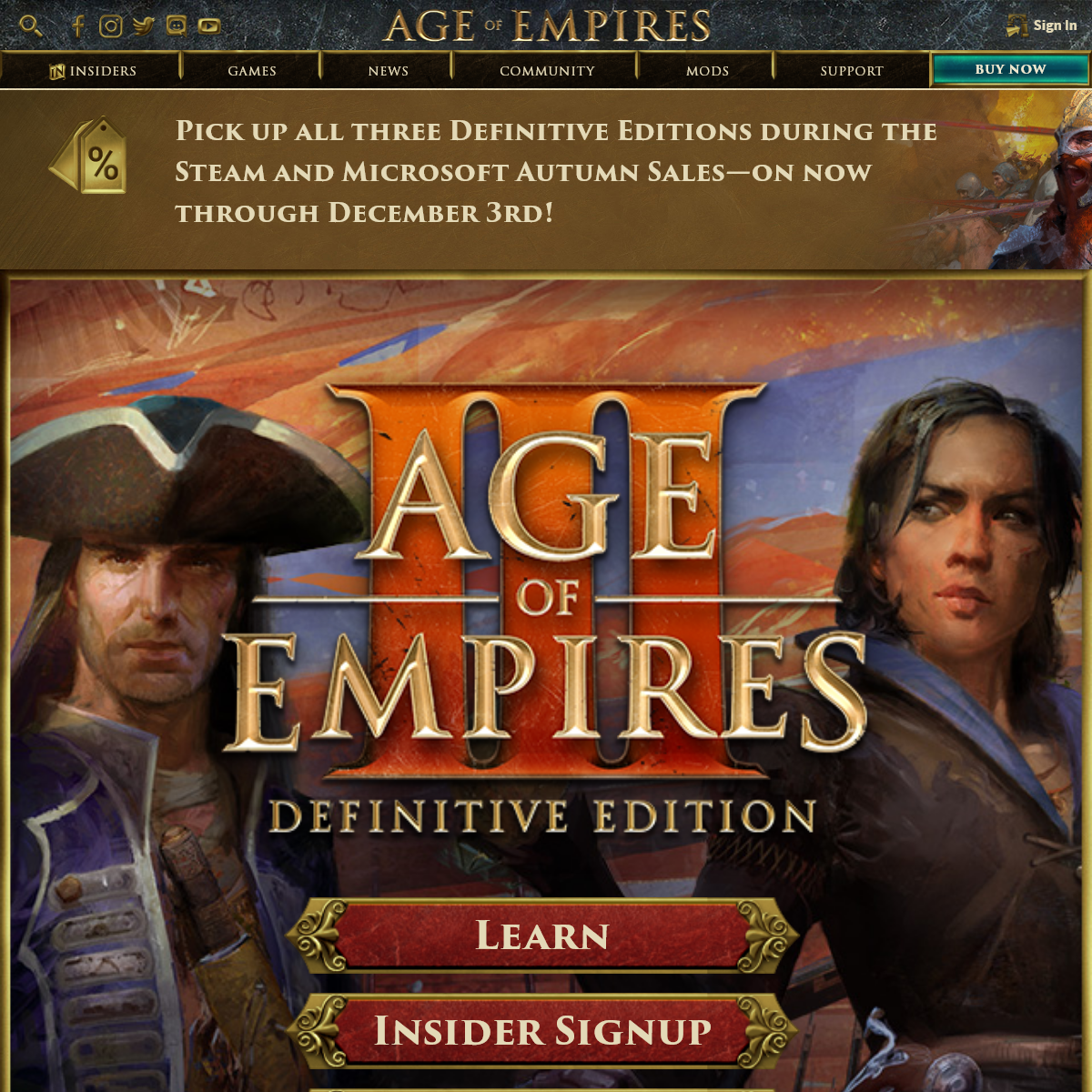 Age of Empires Franchise - Official Web Site