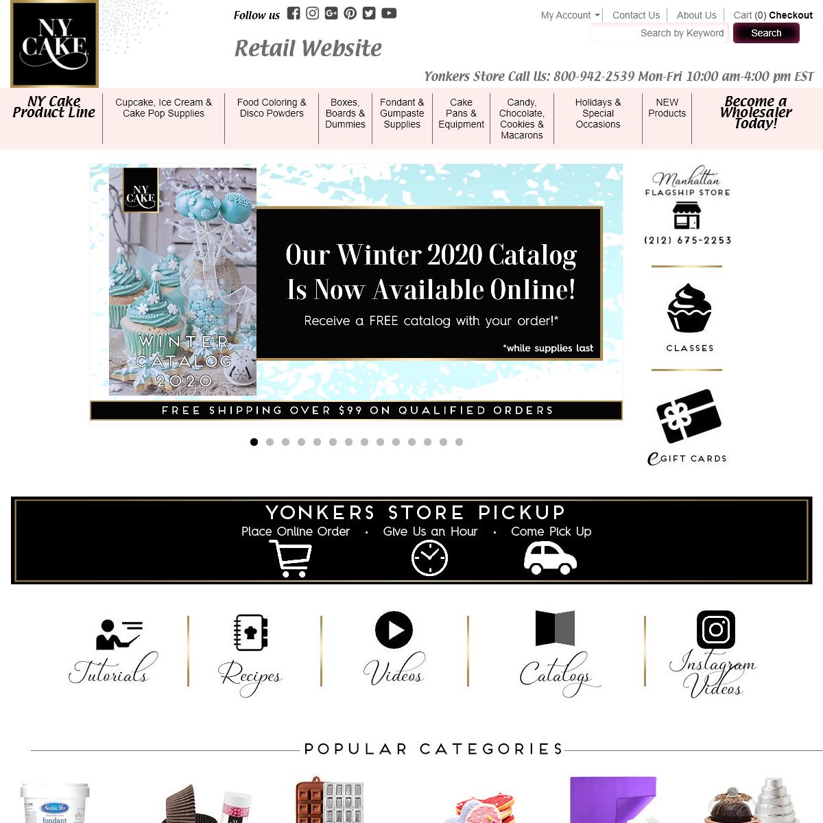 Cake Decorating and Baking Supplies - Online Baking Tools - NY Cake