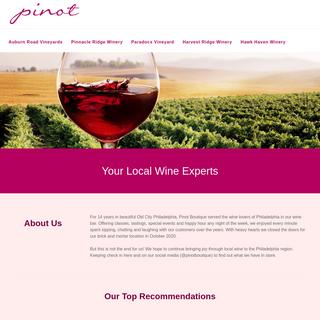 Pinot Boutique - Philadelphia`s Wine Tasting & Classes Spot