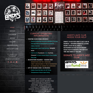 Home - Andy`s Jazz Club & Restaurant - Chicago Jazz