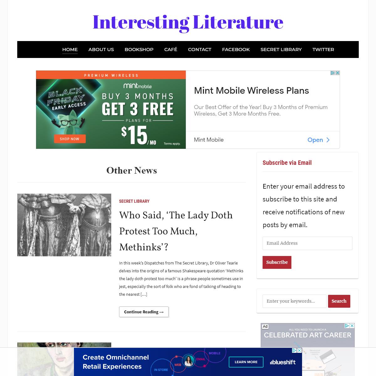 Interesting Literature – A Library of Literary Interestingness