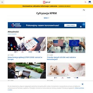 Cyfryzacja KPRM - Portal Gov.pl