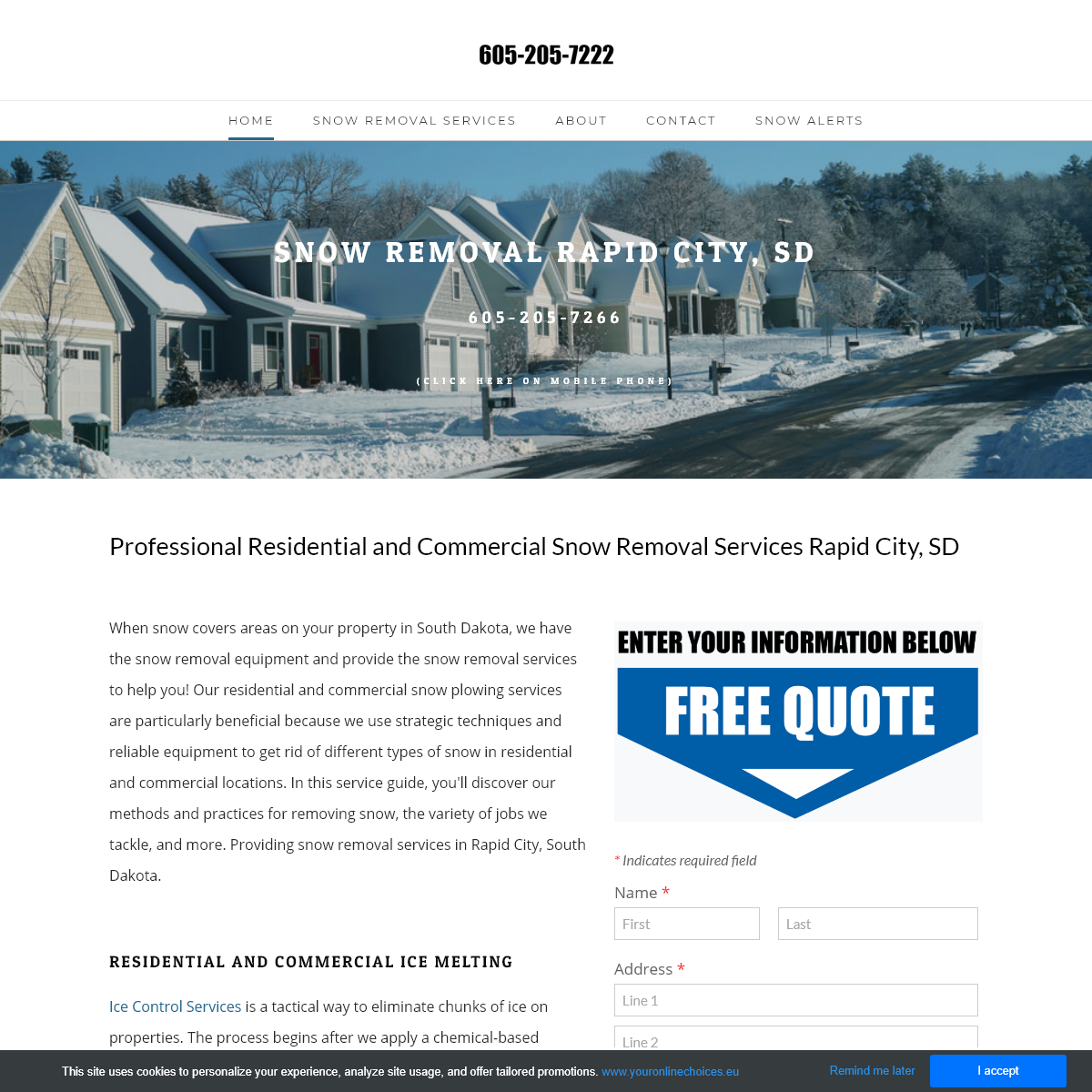 Residential and Commercial Snow Removal - Rapid City, SD