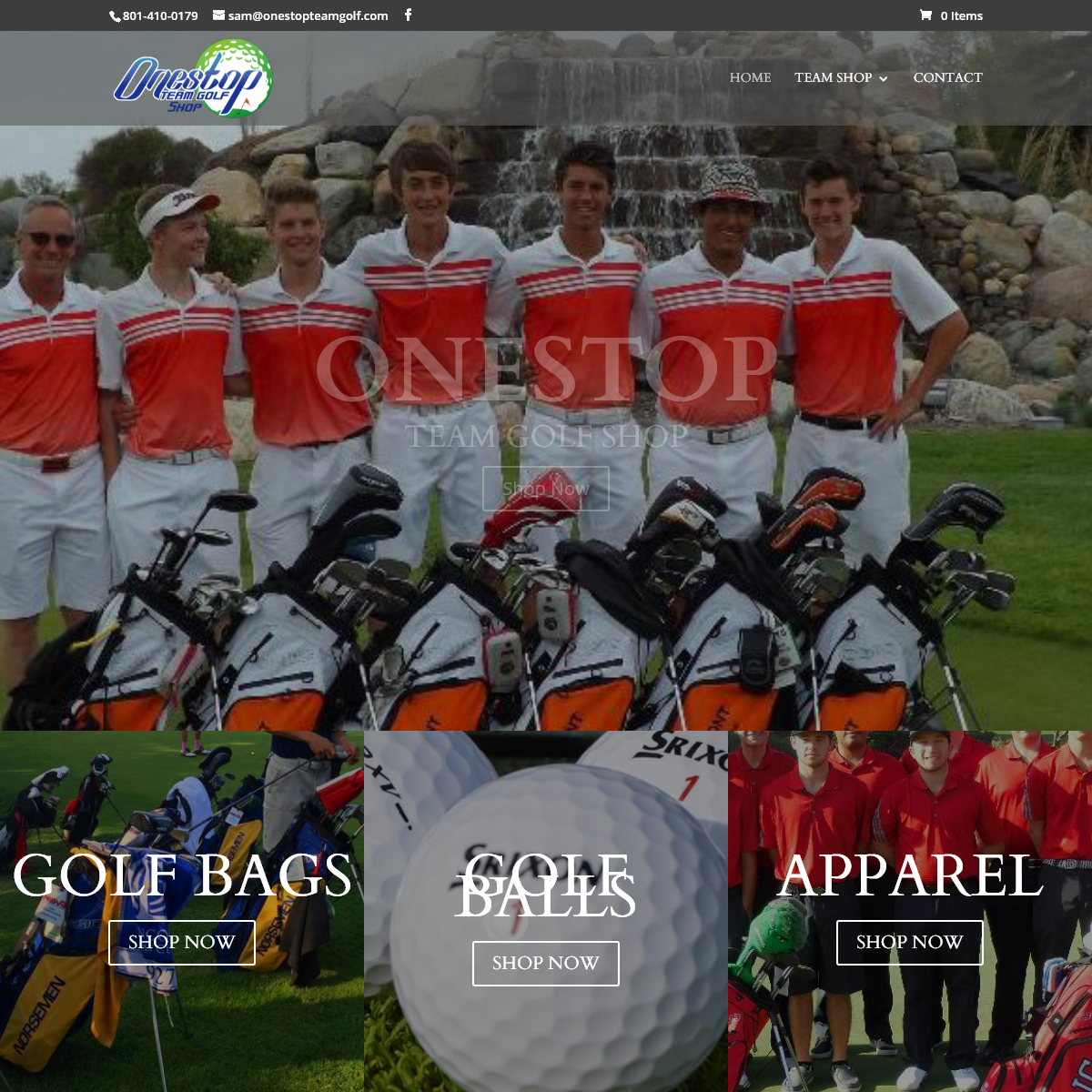 One Stop Team Golf Shop - Golf Bags, Balls, Apparel, Hats and more