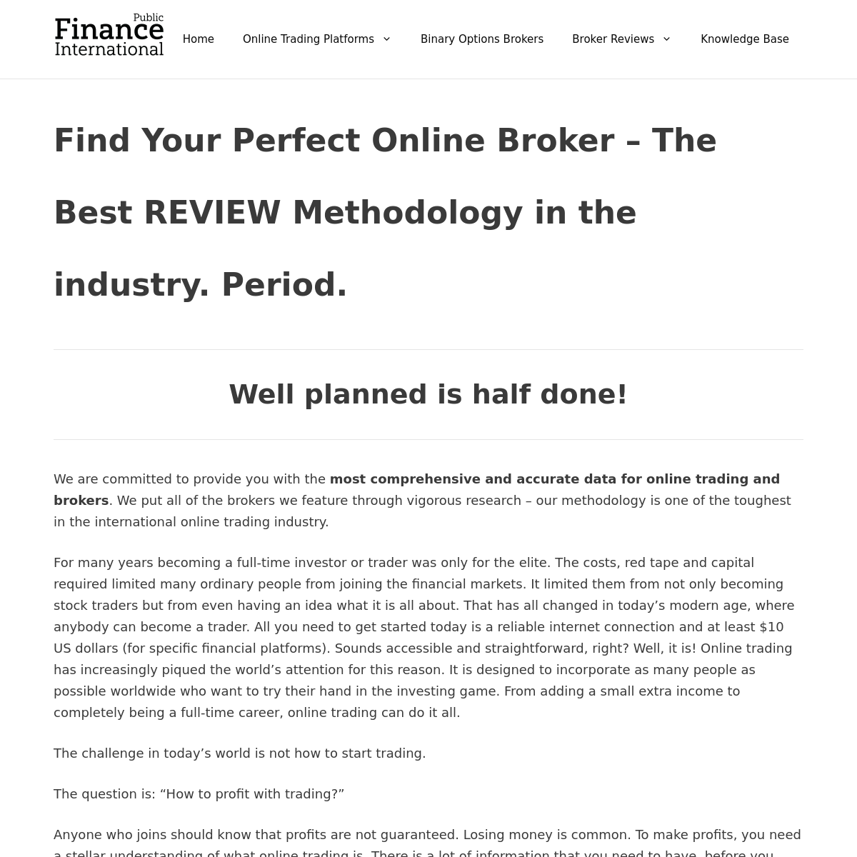 Public Finance International - Online Trading - Broker Reviews & Ratings