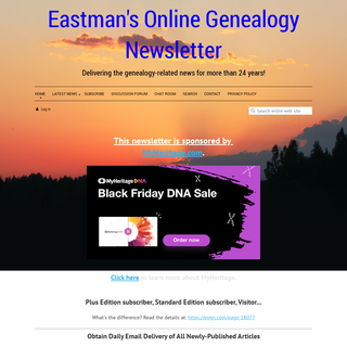 Eastman`s Online Genealogy Newsletter - Home