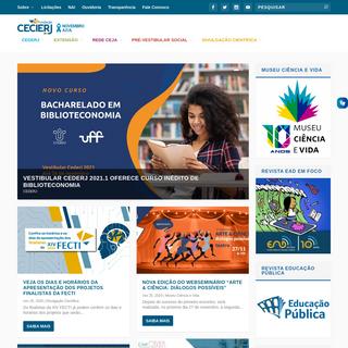 Fundação CECIERJ - Centro de Ciências e Educação Superior a Distância do Estado do Rio de Janeiro