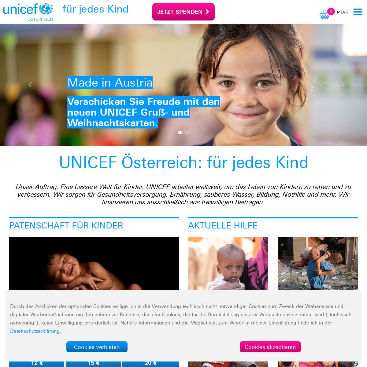 UNICEF Österreich- für jedes Kind - Spende & Patenschaft
