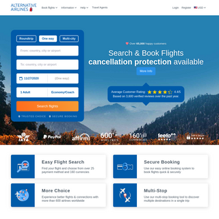 Alternative Airlines - Book Flights on 100s of Airlines
