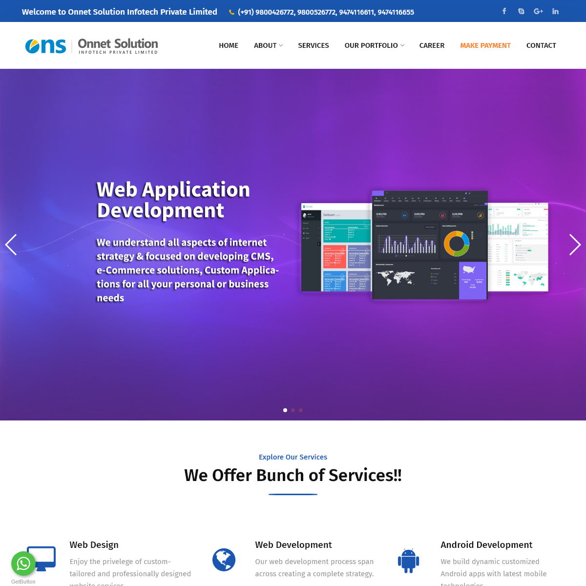 Onnet Solution Infotech Private Limited - Web Design, Development & Android Development Company in West Bengal