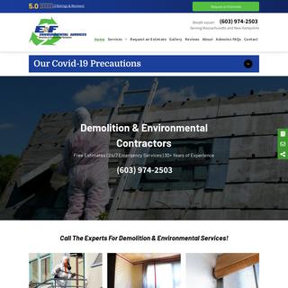 E & F Environmental - Asbestos Removal - Mold Removal - Newton, NH
