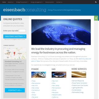 Eisenbach Consulting – Energy Procurement & Management Company