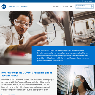 NSF International - The Public Health and Safety Organization