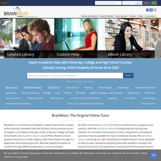BrainMass - 24-7 Academic Help