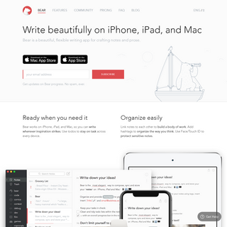Private Markdown Notes for iPhone, iPad and Mac - Bear App