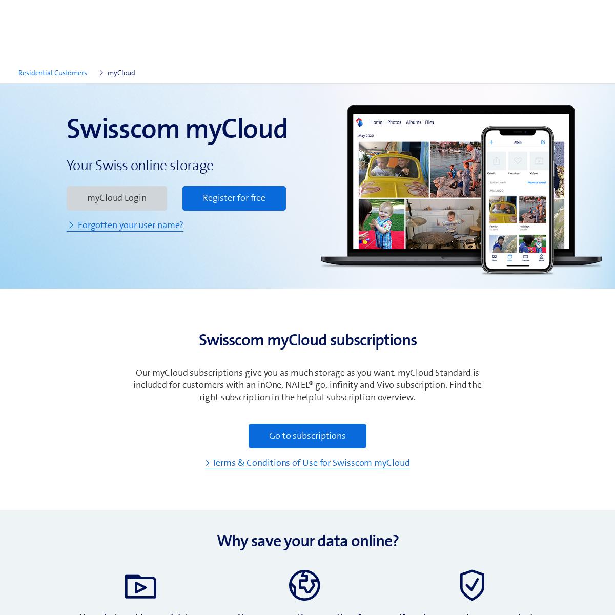 Secure cloud storage in Switzerland - Swisscom