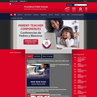 Providence Public Schools - Homepage