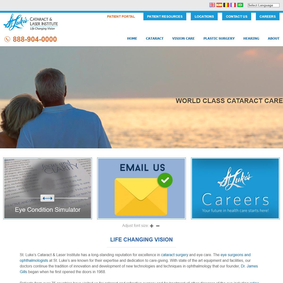 Laser Cataract Surgery - St. Luke`s Cataract & Laser Institute St. Luke`s Cataract & Laser Institute