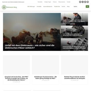 Elektroauto-News.net - Elektromobilität, Elektroautos und Hybridfahrzeuge