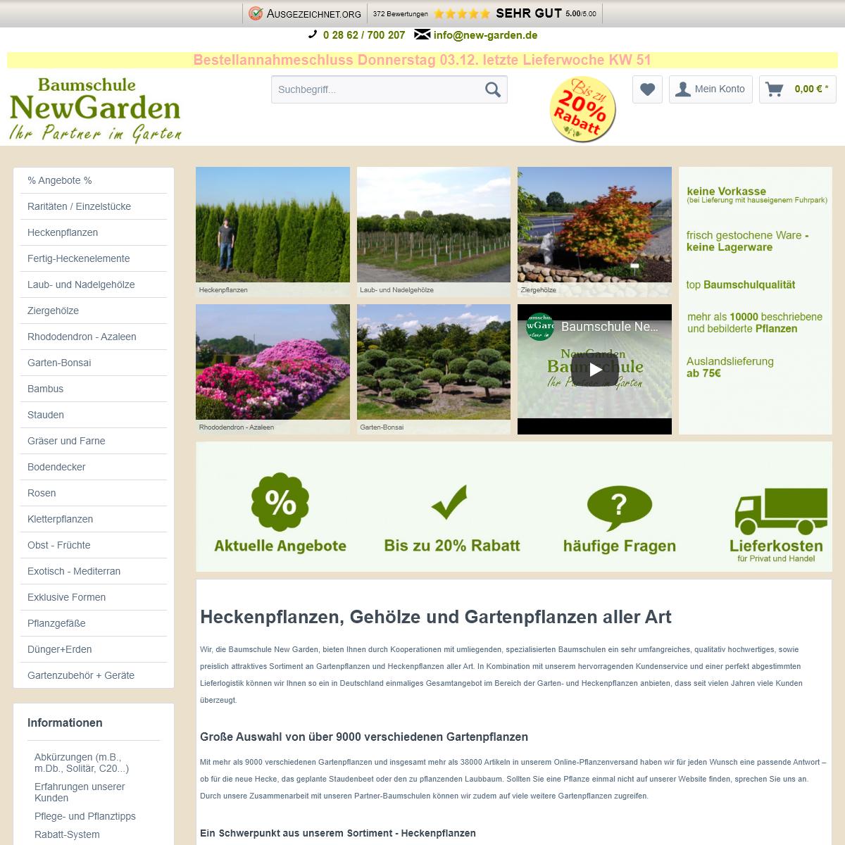 Über 10.000 verschiedene Gartenpflanzen günstig in Top-Baumschulqualität kaufen