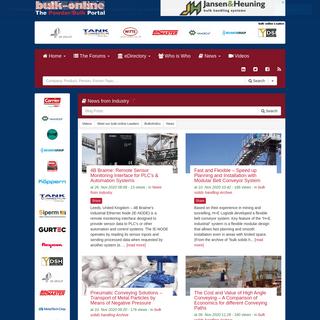 bulk-online.com - Home of the powder & bulk solids handling & processing industries