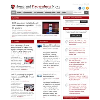 Homeland Preparedness News - The Leading Source for Preparedness and Response News