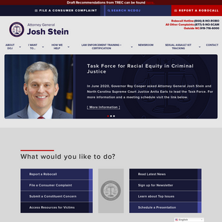 NC DOJ - Home - Attorney General Josh Stein