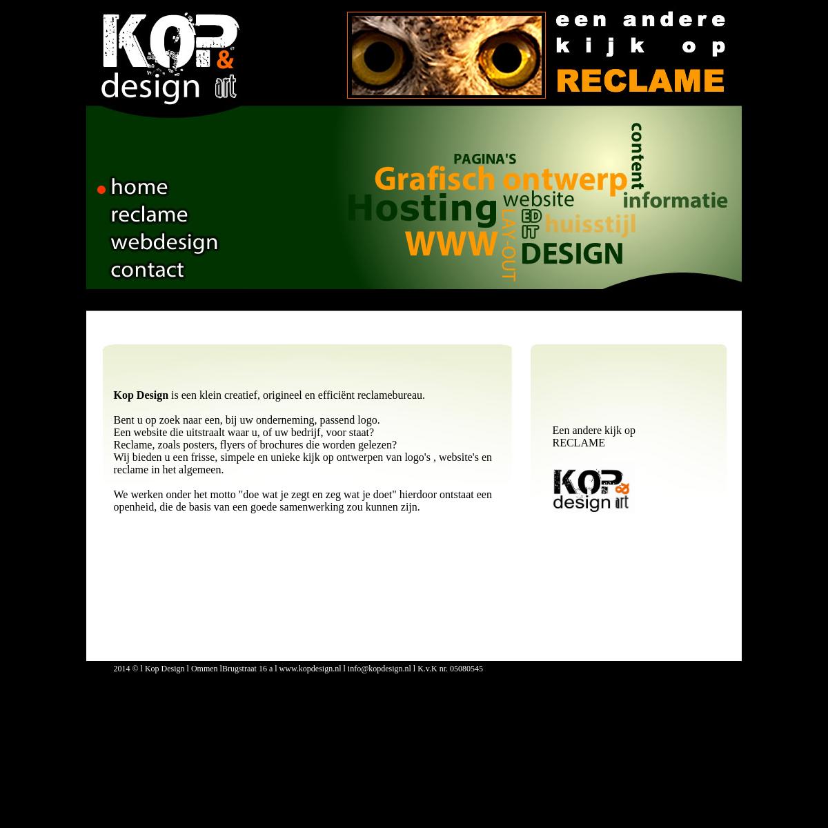 webdesign, hosting, ontwerpen en reclame bij KOP-design Ommen, voor totale reclame