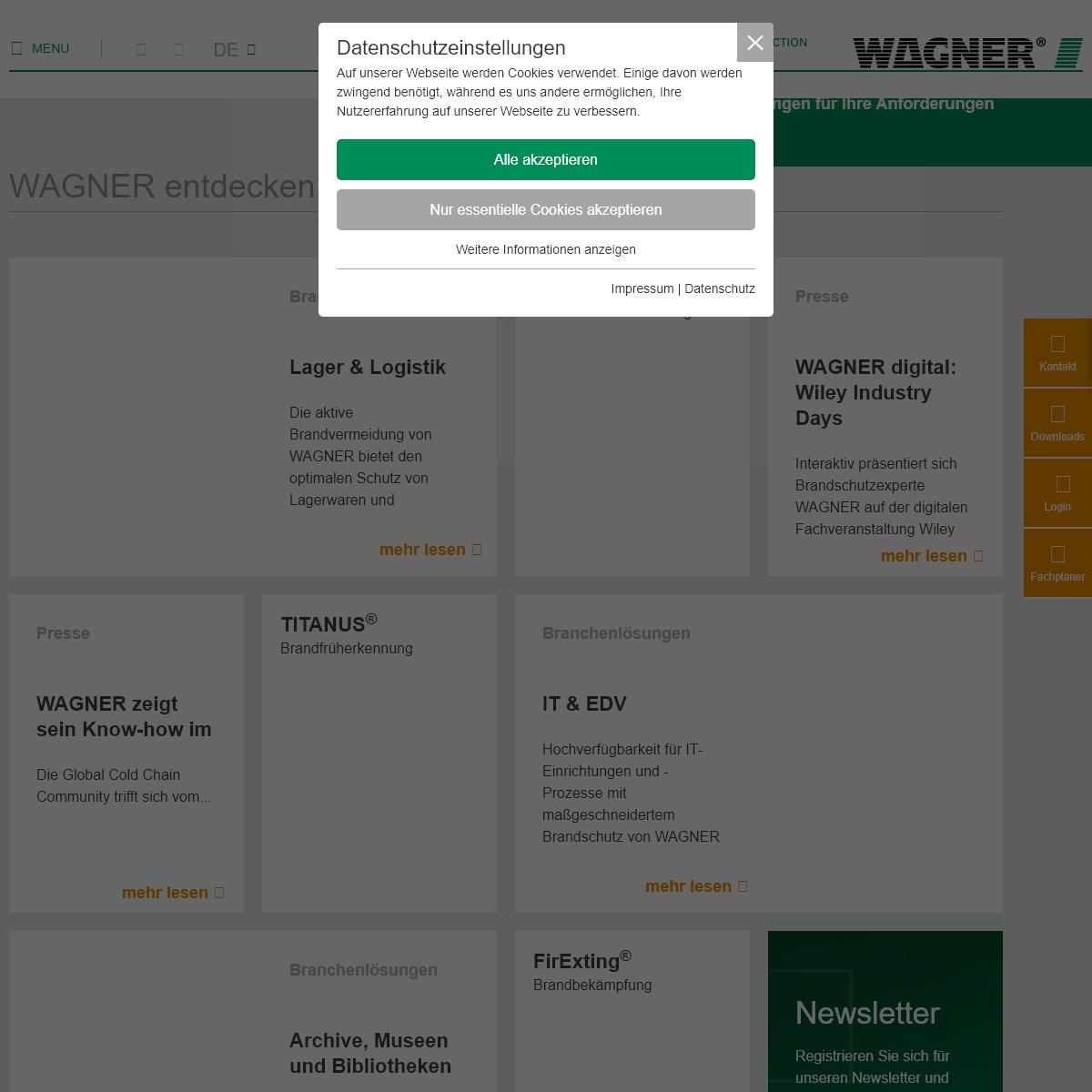 Experte für innovative Brandschutzlösungen - WAGNER Group