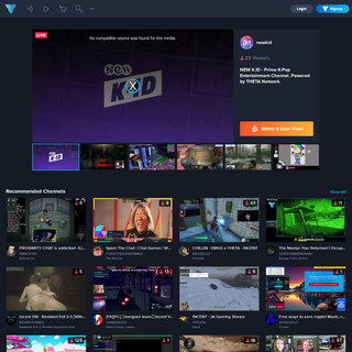 THETA.tv- Watch LIVE Streams, Earn TFuel, and support Streamers
