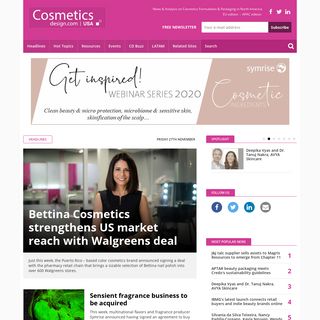 Cosmetics Design North America - Cosmetics Packaging, Industry, Manufacturers - Cosmetics Ingredients, Supply