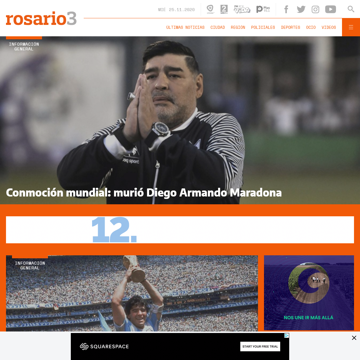 Rosario3.com - Noticias de Rosario, toda la información al instante, con deporte y entretenimiento